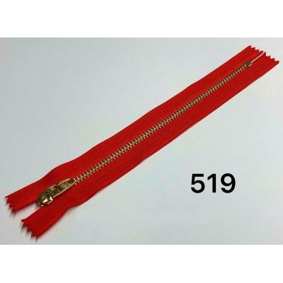 Молния Джинсовая т-4.5 18см Цвет Красный + золото