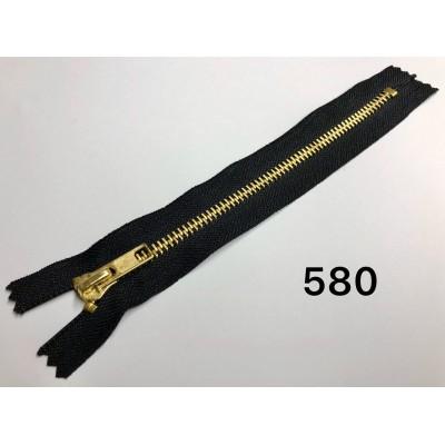 Молния Джинсовая т-5 18см Цвет черный + золото