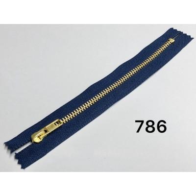 Молния Джинсовая т-5 18см Цвет Темно-синий + золото