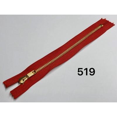 Молния Джинсовая т-5 18см Цвет Красный + золото