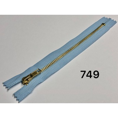 Молния Джинсовая т-5 18см Цвет Голубой + золото