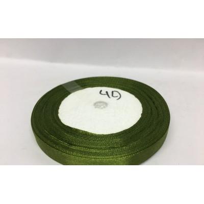 Лента атласная цвет темно-оливковый, ширина 10 мм, длина 23 м