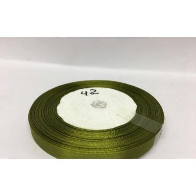 Лента атласная цвет оливковый, ширина 10 мм, длина 23 м