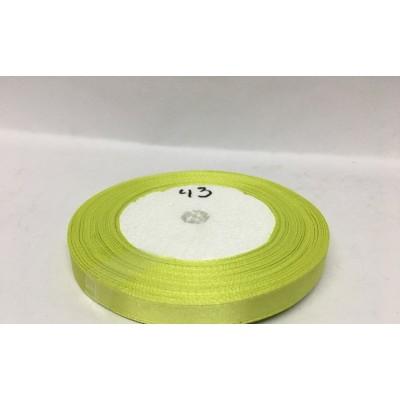 Лента атласная цвет светло-оливковый, ширина 10 мм, длина 23 м