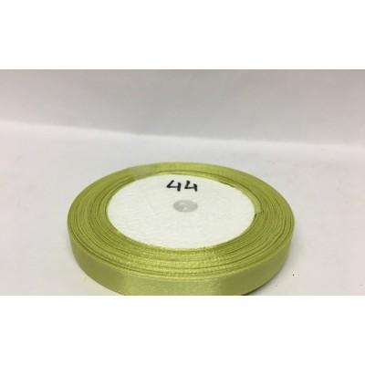 Лента атласная цвет бледно-оливковый, ширина 10 мм, длина 23 м