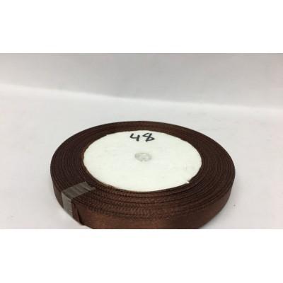 Лента атласная цвет коричневый, ширина 10 мм, длина 23 м