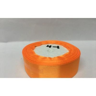 Лента атласная цвет желтый апельсин, ширина 25 мм, длина 23 м