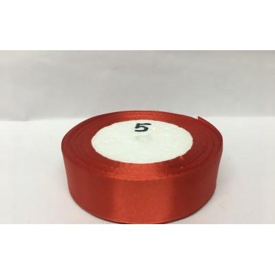 Лента атласная цвет красный, ширина 25 мм, длина 23 м