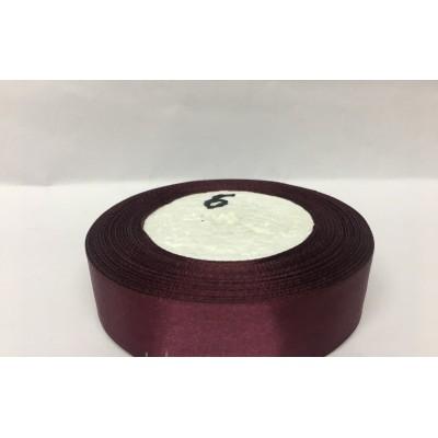Лента атласная цвет баклажанный, ширина 25 мм, длина 23 м