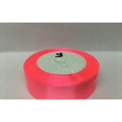 Лента атласная цвет ярко-розовый, ширина 25 мм, длина 23 м