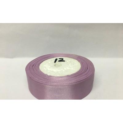 Лента атласная цвет лиловый, ширина 25 мм, длина 23 м