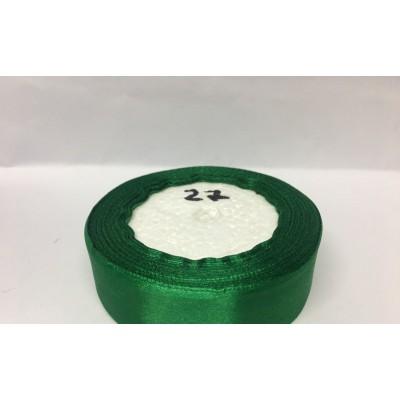 Лента атласная цвет зеленый, ширина 25 мм, длина 23 м