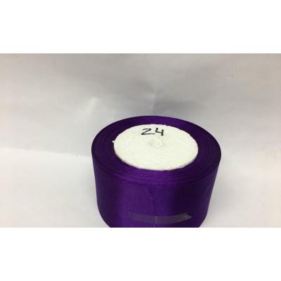 Лента атласная цвет - фиолетовый, ширина 50 мм, длина 23 м