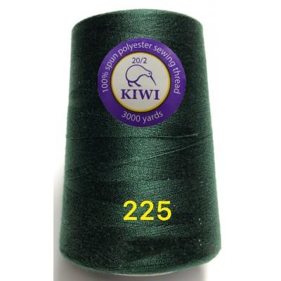 Нитка особо прочная Армированная 20/2. Цвет 225 темно-зеленый
