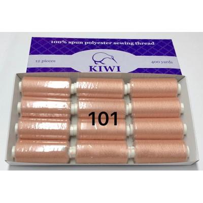 Швейная нитка №40 цвет 101 светлый-персик ( упаковка 12 шт )