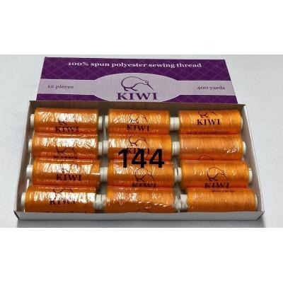 Швейная нитка №40 цвет 144 оранжевый. ( упаковка 12 шт )