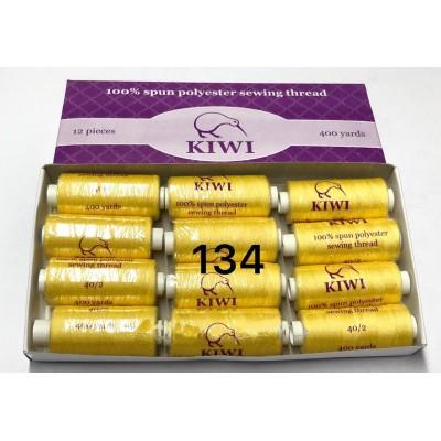 Швейная нитка №40 цвет 134 желтый-оттенок ( упаковка 12 шт )