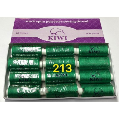 Швейная нитка №40 цвет 213 зеленый ( упаковка 12 шт )