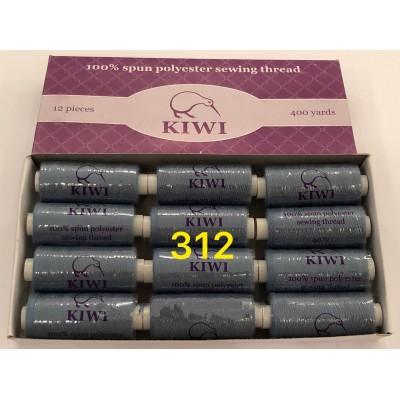 Швейная нитка №40 цвет 312 джинсовый-сине-серый ( упаковка 12 шт )