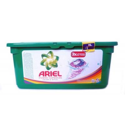 Гель для стирки ARIEL Color трехкомпонентный, для цветного, 30шт, в ассортименте