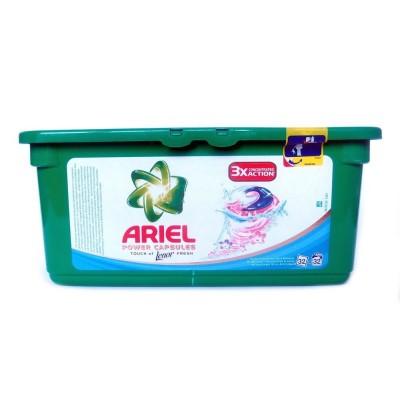 Гель для стирки ARIEL Touch of Lenor fresh трехкомпонентный, универсальный, 28шт
