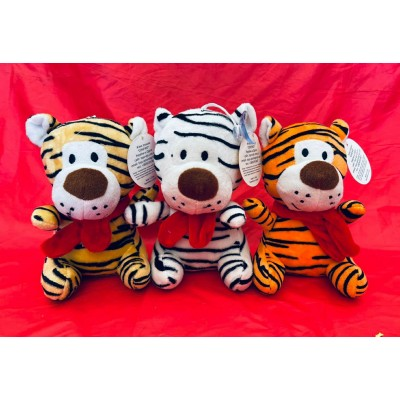 Мягкая игрушка Тигр в шарфике 15см, рычит