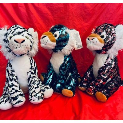 Мягкая игрушка Тигр с пайетками 30см