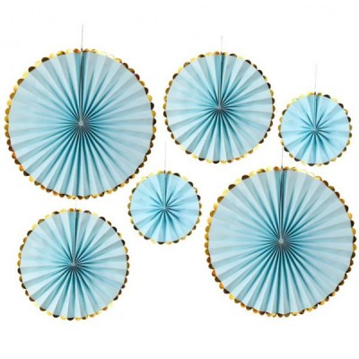 Веерные круги набор (уп.6шт.) голубые