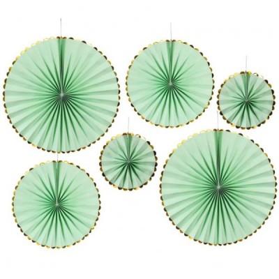 Веерные круги набор (уп.6шт.) зелёные