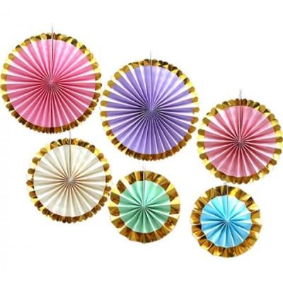 Веерные круги набор (уп.6шт.) разноцветные