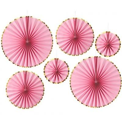 Веерные круги набор (уп.6шт.) розовые