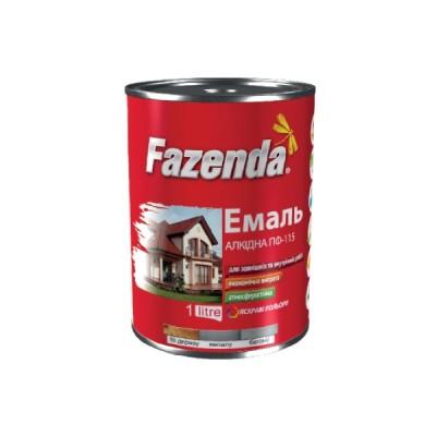 Краска красно-коричневая 2,8 кг Фазенда ПФ-266