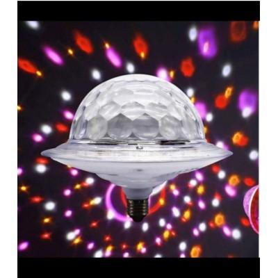Лампа в патрон в виде диско-шара светодиодная LED UFO Bluetooth Crystal Magic Ball E27