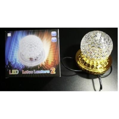 Диско лампа на стойке Лотос 6 led, золото