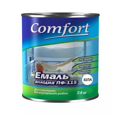 Алкидная эмаль краска Comfort (PolyColor) ПФ 115 белая 2.8кг