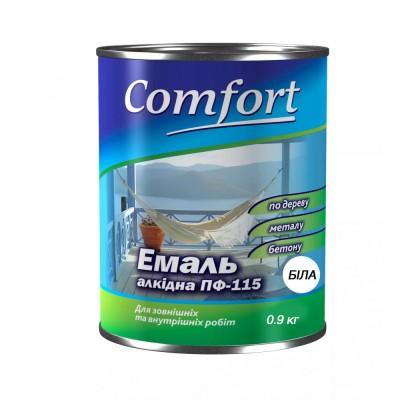 Алкидная эмаль краска Comfort (PolyColor) ПФ 115 белая 0,9кг