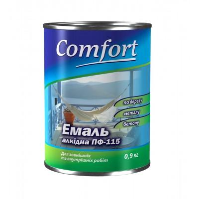 Алкидная эмаль краска Comfort (PolyColor) ПФ 115 ярко-голубая 0,9 кг