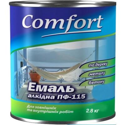 Алкидная эмаль краска Comfort (PolyColor) ПФ 115 зеленая 2.8 кг