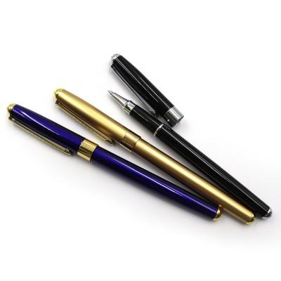 Ручка  мет. перо  BAIXIN FP-920 (белый/синий/золото.)