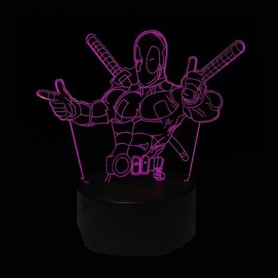 Светильник 3D Дедпул