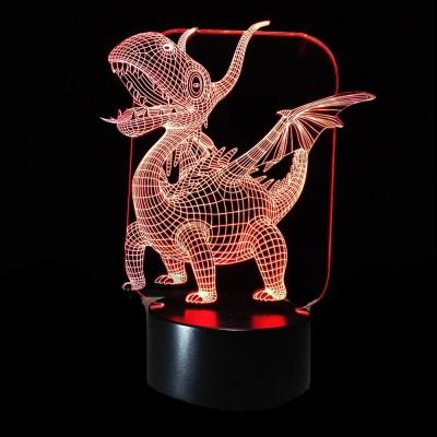Светильник 3D Дракон