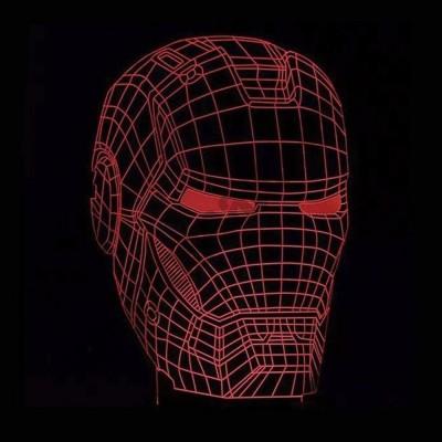 Светильник 3D Маска железного человека