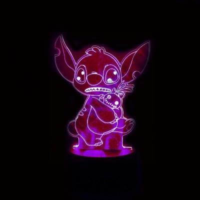 Светильник 3D Стич
