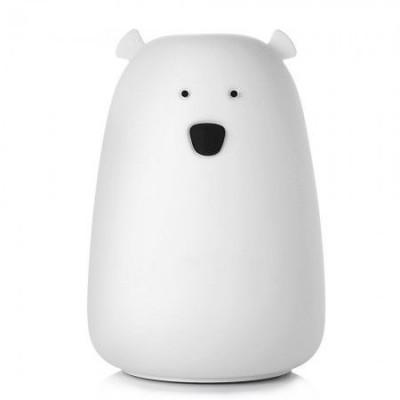 Силиконовый сенсорный ночник LED Медвежонок (белый, голубой, розовый)