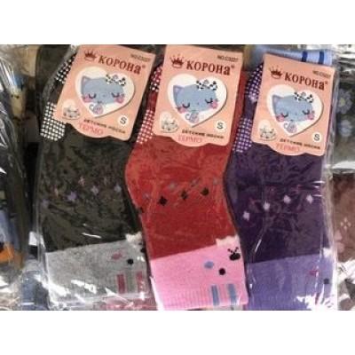 Носки детские махра для девочек Корона 8-16, 16-24 месяца
