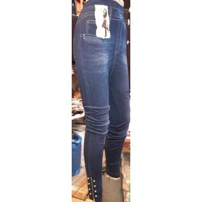 Джеггинсы (эластичные джинсы) с махрой  размер  50-52