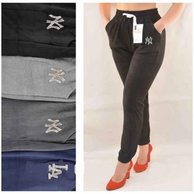 Брюки-Лосины женские велюровые с карманами, под манжет 2XL - 5XL Kenalin