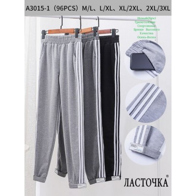"Молодежные спортивные штаны ""Ласточка"" A3015-1. Разные цвета. Размеры  M-3XL."