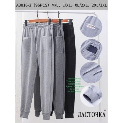 "Молодежные спортивные штаны ""Ласточка"" A3016-2. Разные цвета. Размеры M-3XL"