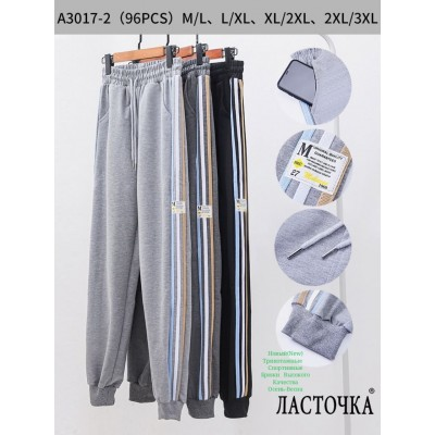 "Молодежные спортивные штаны ""Ласточка"" A3017-2. Разные цвета. Размеры M-3XL"